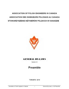 APEC GENERAL BY-LAWS, Preamble